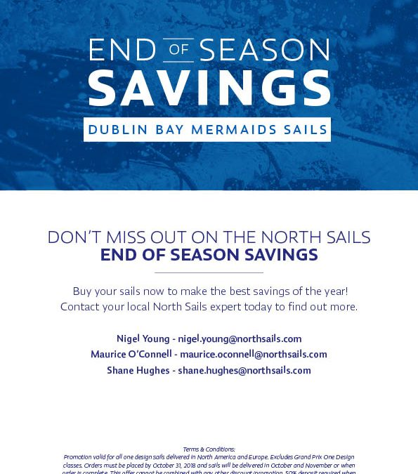 North Sails 'End of Season' Promotional October Deal